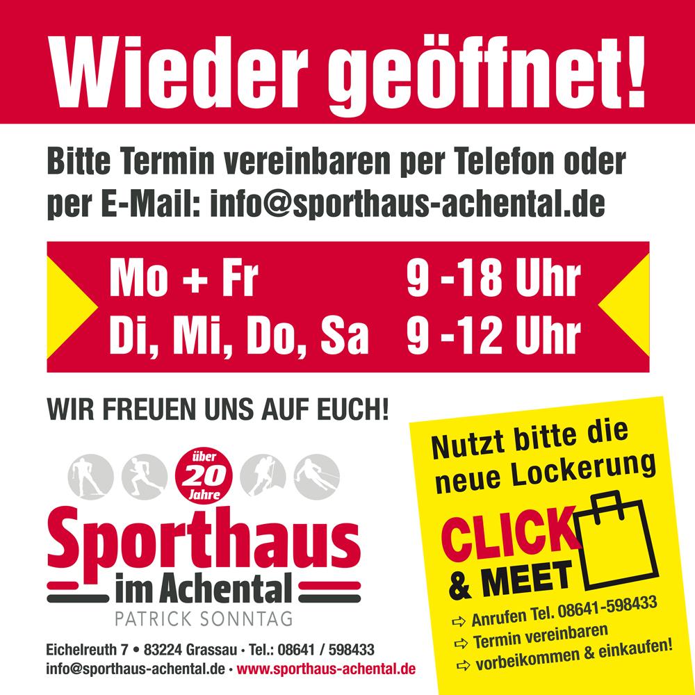 Sporthaus Achental click&meet