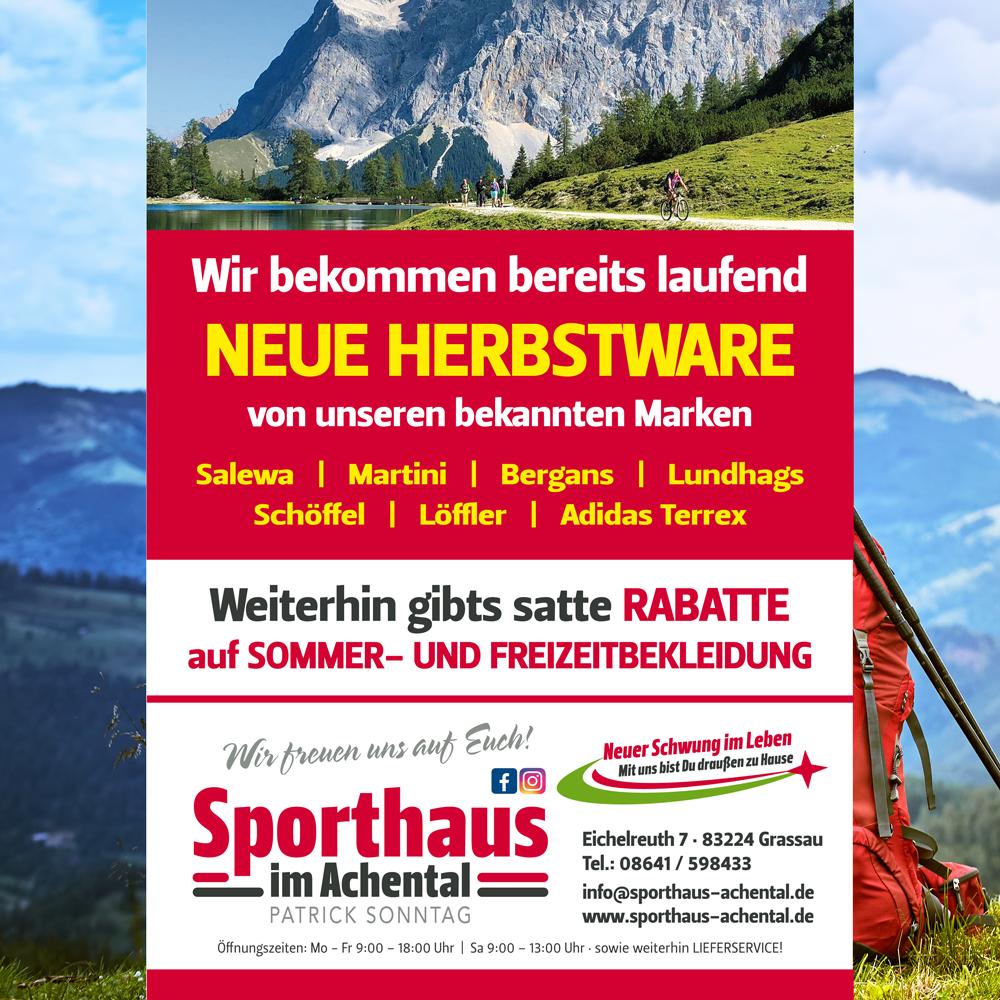 sporthaus achental aktuelles im april